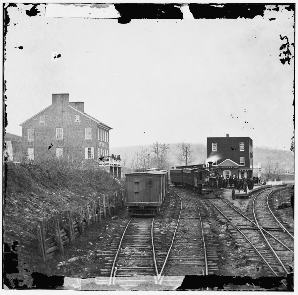 Hanover Junction, Pa. Passenger train at depot