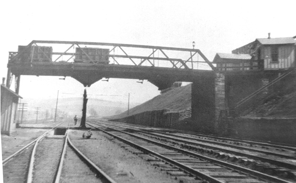 Coal yard bridge at Hanover Junction