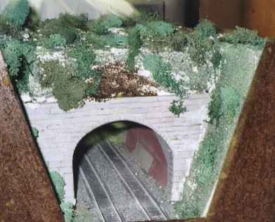 Model of entrance to Howard tunnel