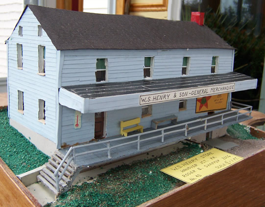 Model of W.S. Henry & Son General Merchandise  in Hanover Junction